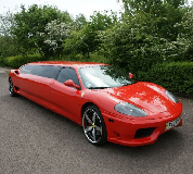 Ferrari Limo in Sherburn in Elmet