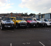 Jeep Limos and 4x4 Limos in Lliw Valey