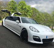 Porsche Panamera Limousine in London City Airport
